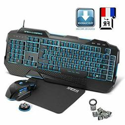 EMPIRE GAMING Hellhounds Pack Clavier Souris et Tapis Gamer